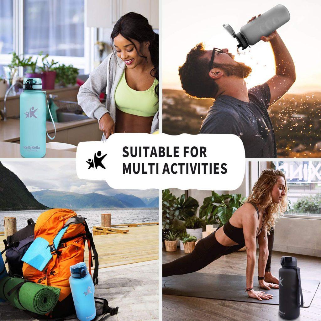 botella de agua con filtro