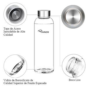 botella de cristal Ryaco
