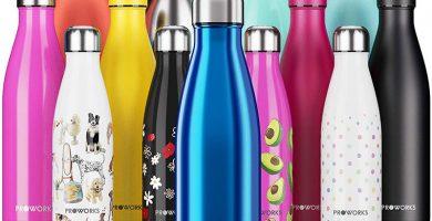 Proworks Botella de Agua Deportiva de Acero Inoxidable