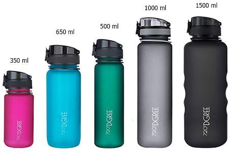 botella de agua de plastico resistente